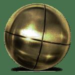 matières boule de pétanque bronze