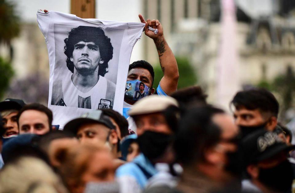 Diego Maradona. Hommage à Diego Maradona. Photo Ronaldo Schemidt. AFP