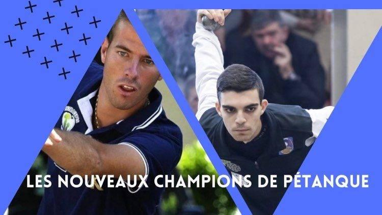 nouveaux champions de pétanque