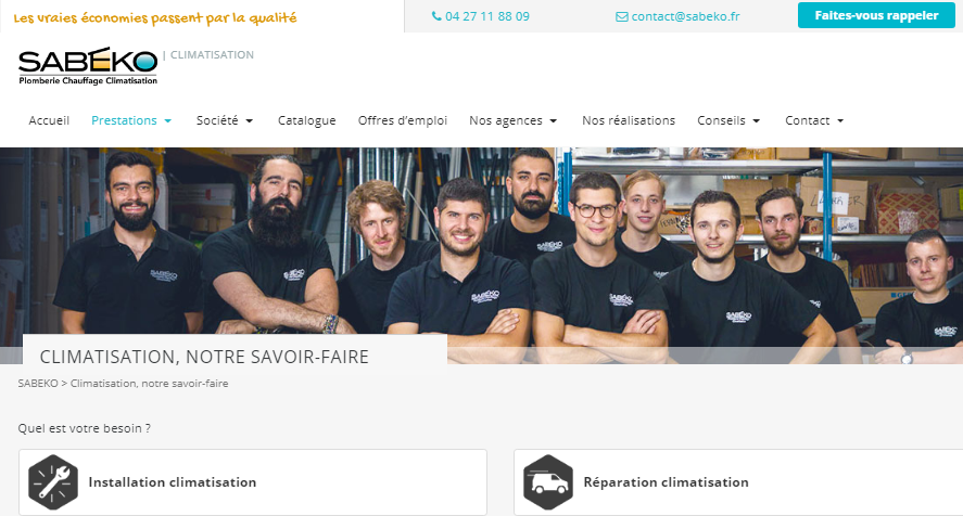 SABEKO installateur climatisation Lyon