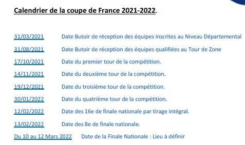Coupe de France pétanque 2021-2022