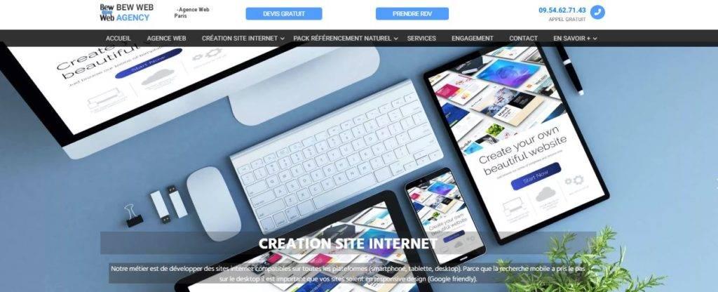 Bew Web agence web Paris
