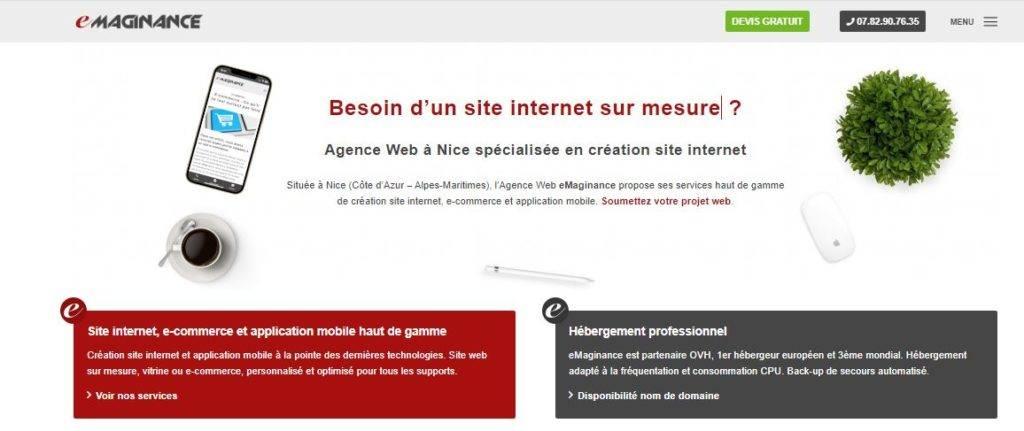 agence web emaginance Nice